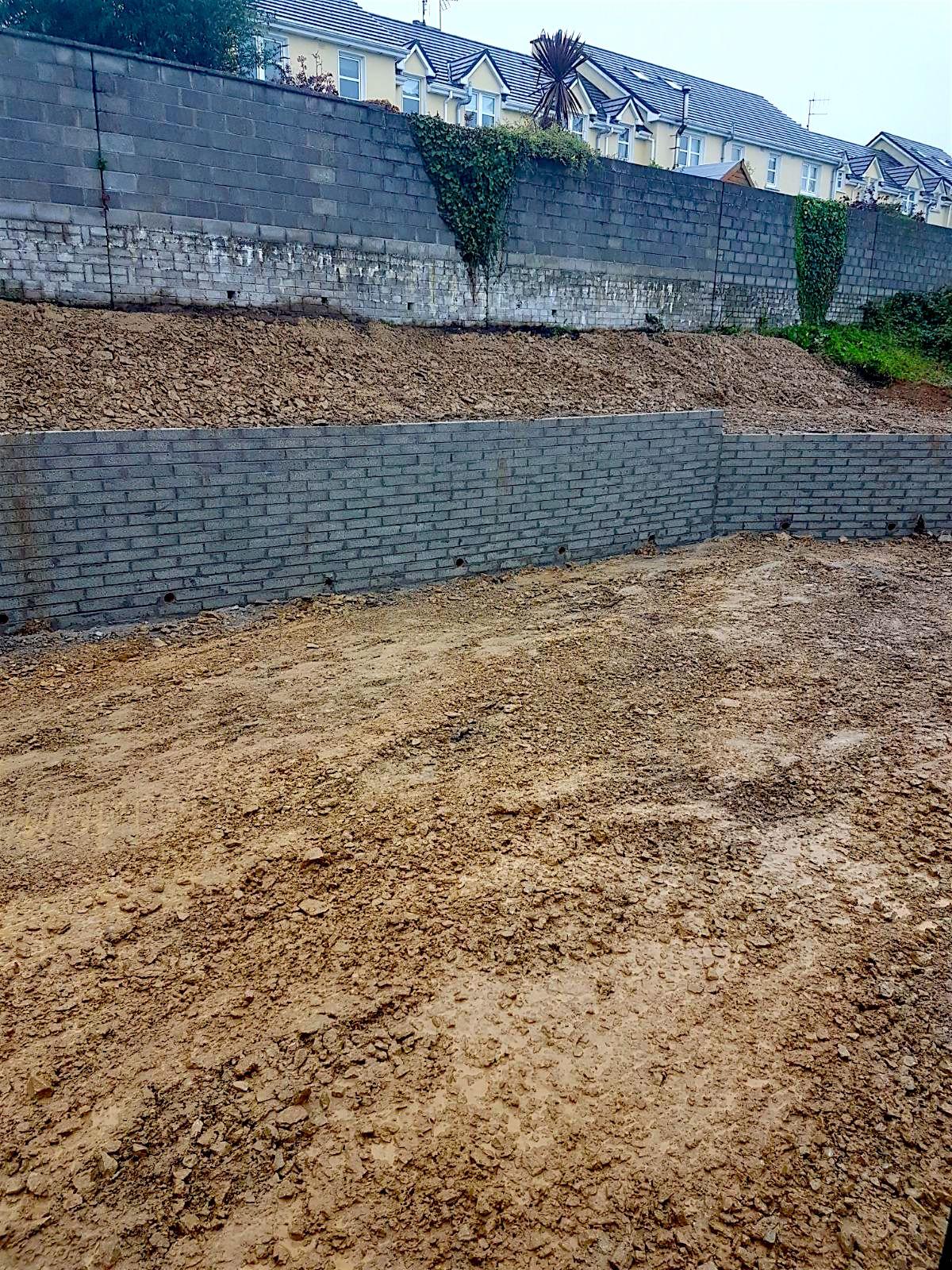 Retaining wall job in Aghada