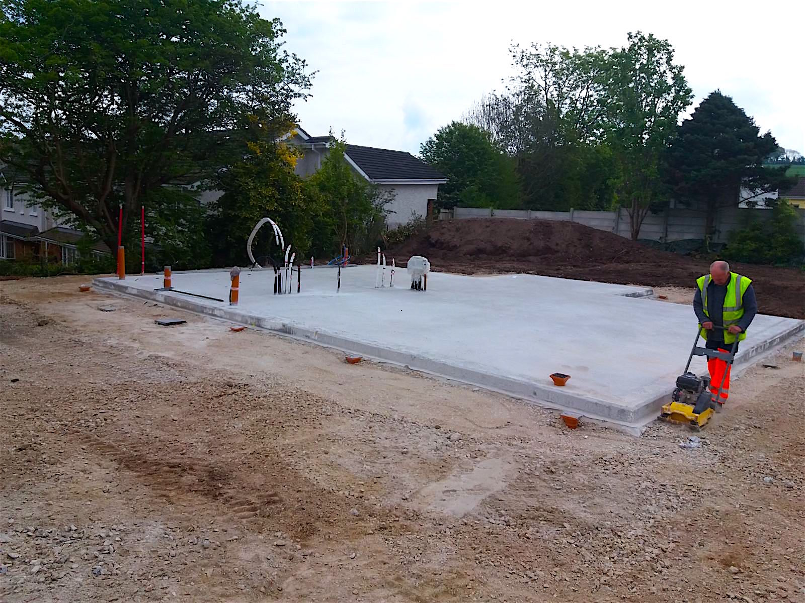 Finishing touches on a base in Cork